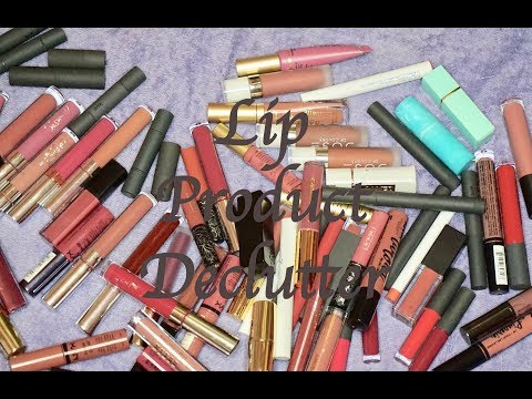 Lip Product Declutter  Brianna Mae
