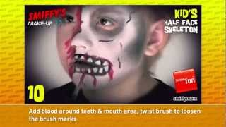 FX Make-Up Tutorial: Kids Skeleton (Half Face) Thumbnail