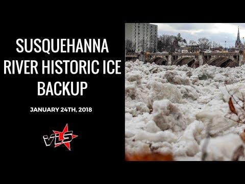 West Pittston, Pennsylvania Historic Ice Jam 1/24/18