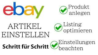 eBay Artikel einstellen - Schritt für Schritt Anleitung - Listing oprimieren [TEIL 4 / 6] screenshot 4