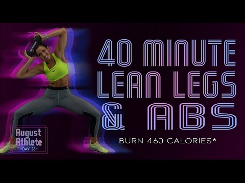 40 Minute Lean Legs and Abs Workout 🔥Burn 460 Calories!* 🔥Sydney Cummings