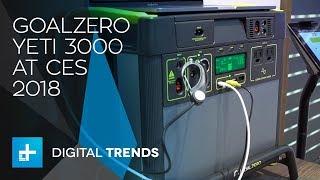 GoalZero Yeti 3000 Electric Mobile Generator at CES 2018