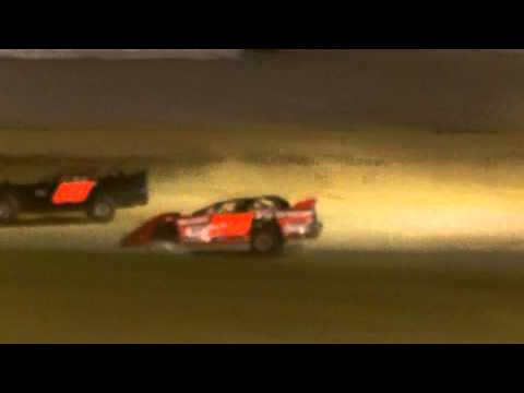 Little Valley Speedway 360 Late Model Hard Crash down the backstretch July 3rd 2015