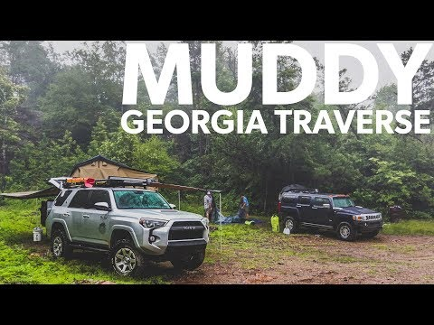 Ep41 - NASTY WET Georgia Traverse - Felled Trees RUINED Trip