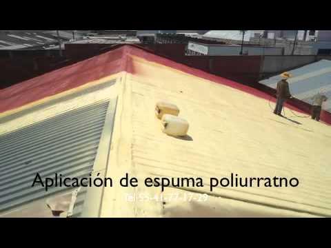 Aplicaci n de poliuretano con acabado terracota a techo de - Laminas de techo ...