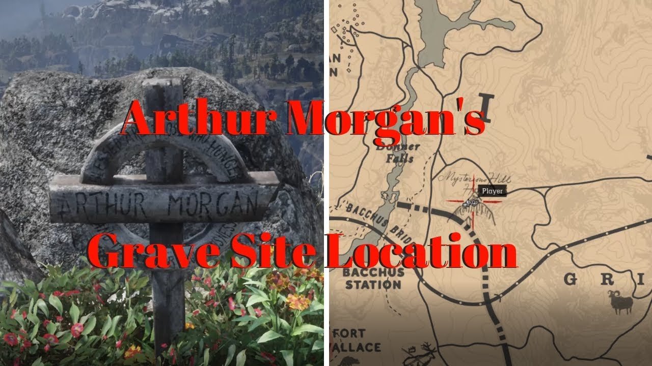 Red Dead Redemption 2 Arthur Morgan S Grave Site Location Youtube