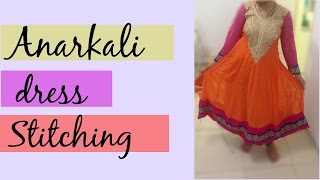 24 Panel Anarkali Dress Part 2 - Stitching and Final finishing