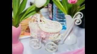 оформление свадьбы  розовый и голубой