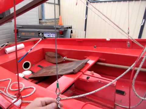 Mirror Sailing Dinghy rigging - YouTube