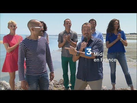 MIDI EN FRANCE sur France 3 à St Denis d'Oléron avec Eric Morgane de France Bleu.
