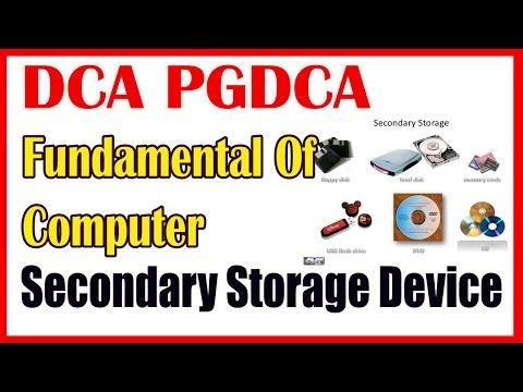 01 DCA PGDCA Fundamental Of Computer    Computer Memory   Secondary Storage Device