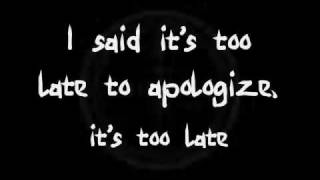 Repeat youtube video Timbaland - Apologize ft. OneRepublic  (Lyrics)
