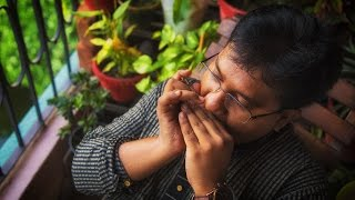 Download Hindi Video Songs - Jago Durga jago dashapraharanadharini :: Sumanta Basu on The Harmonica