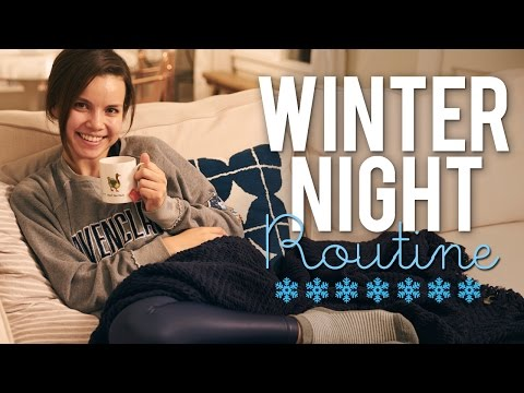 Get My Cozy Winter Night Routine | Ingrid Nilsen Images