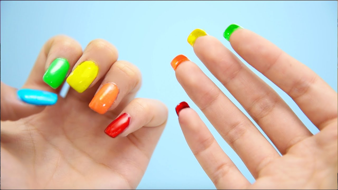 DIY Double Sided Nails! - YouTube