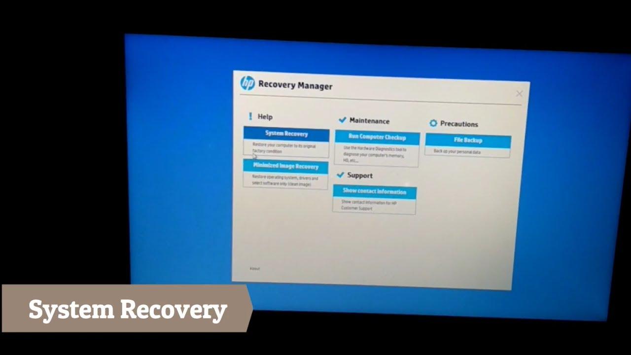 HP System Restore(Factory Defaults) / Windows reset error solved