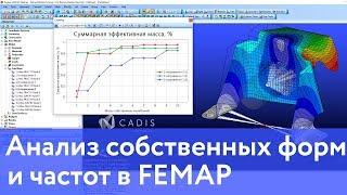 Анализ собственных форм и частот в FEMAP (SOL103)
