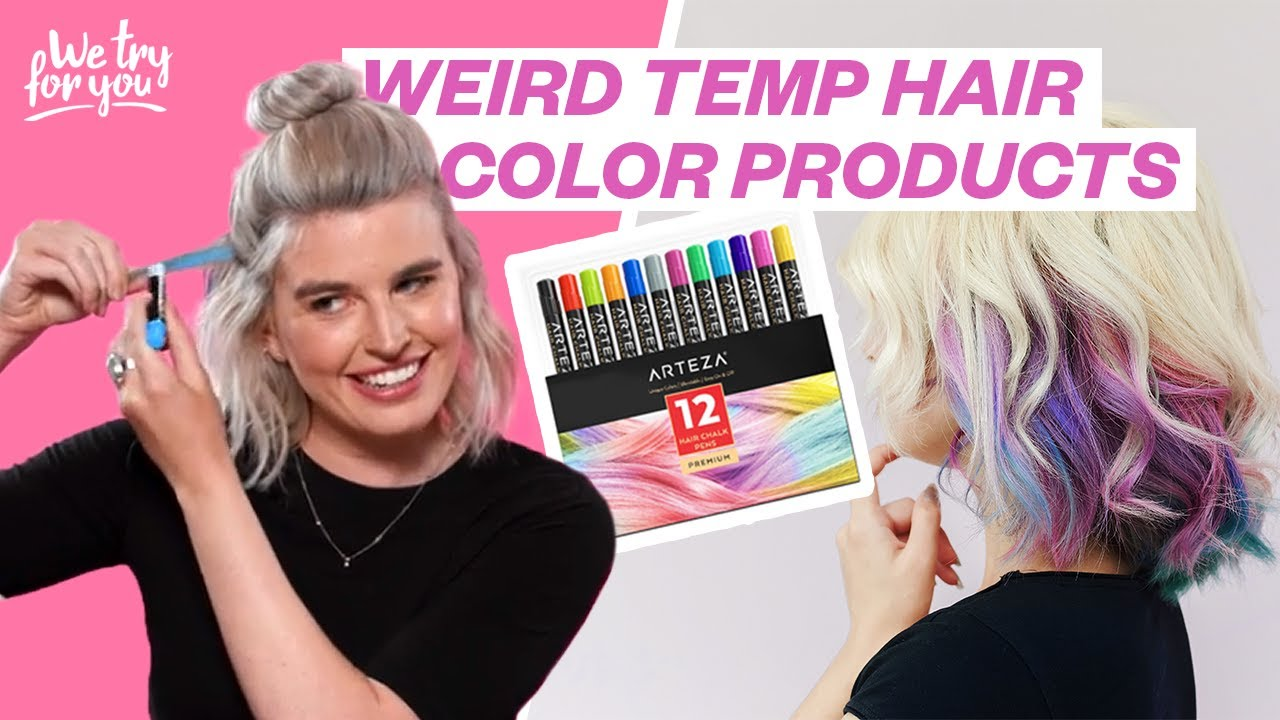 Testing TEMPORARY HAIR DYE Products | WE TRY FOR YOU