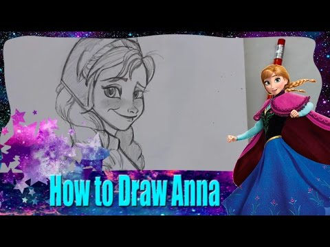 How to Draw ANNA from Disney's Frozen - @DramaticParrot