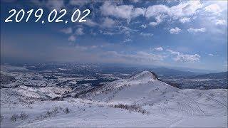 【大斜面&東斜面滑走!】ロッテアライリゾート スノーボードフリーラン自撮り【パウダー】Niigata Lotte Arai Resort snowboard 2019.02.02 (スノボ)