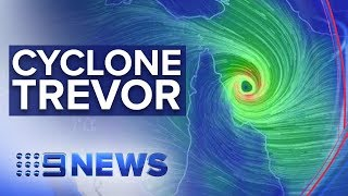 Queensland in lockdown as Category 3 cyclone approaches   Nine News Australia