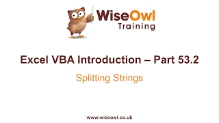 Excel VBA Introduction Part 53.2 - Splitting Strings