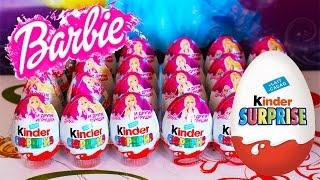Kinder Chocolate Barbie Surprise Eggs - Đồ Chơi Mở Trứng Bất Ngờ Barbie