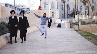 Dancing Behind People in Jerusalem
