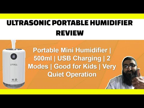 Ultrasonic Portable Humidifer Review | Cool Mist | USB thumbnail