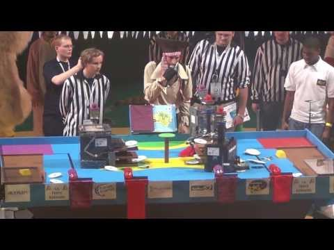 2012 Finale n°2/3 - Space Crackers vs RCVA - Coupe de France de robotique 2012