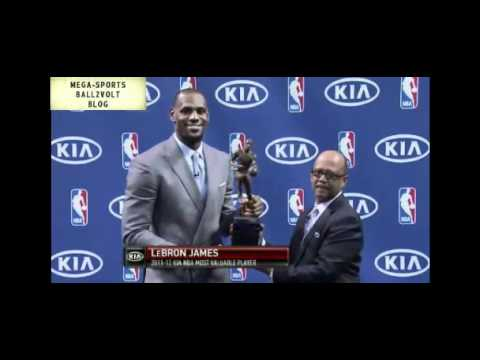 LeBron James 2012 Kia NBA Most Valuable Player Award