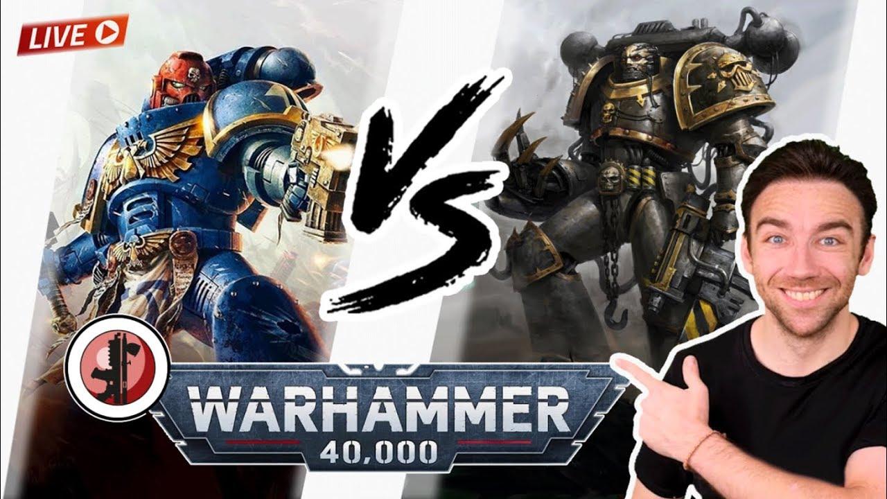 Warhammer 40.000 V9 - Iron Warriors VS UltraMarines !