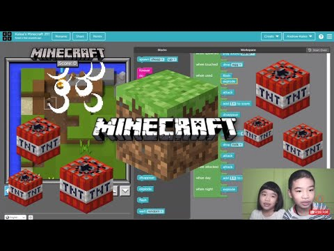 How to Code MINECRAFT in Code.org: Minecraft Designer - Create Your Own Game: Kalea's Minecraft 2