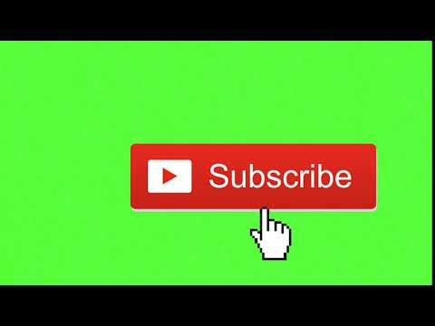 Animated Subscribe Button - Green Screen Footage