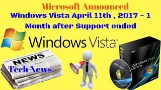 Windows Vista April 11th , 2017 - 1 Month  after Support ended |Technology news 2017 [Urdu/Hindi]