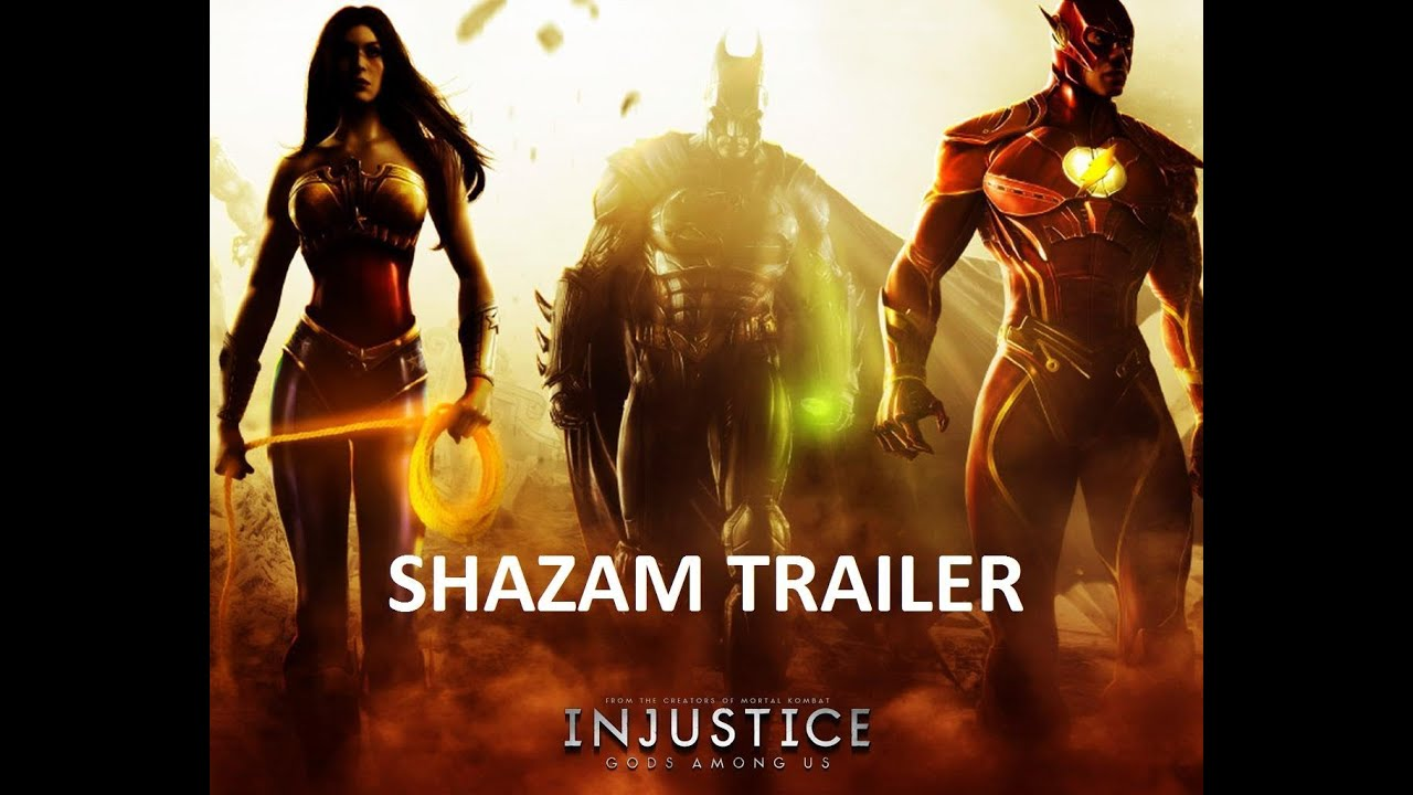 Injustice Gods Among Us Shazam Captain Marvel Trailer
