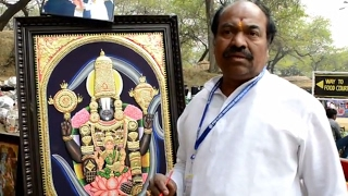 How to Make Golden Leaf Painting (Tanjore Painting) Traditional Painting of South India