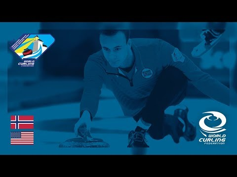Norway v United States - Mens Round-robin - World Junior Curling Championships 2019