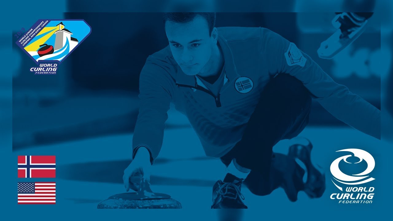 Norway v United States - Men's Round-robin - World Junior Curling  Championships 2019