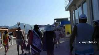 Набережная Коктебель онлайн 2013(набережная Коктебель онлайн в 2013 году. Прогулка с нудиского пляжа к центру поселка, впереди набережная..., 2013-09-27T18:16:48.000Z)