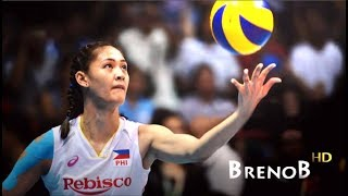 TOP 10 Best Actions by Jaja Santiago  JAJA SANTIAGO  Volleyball Middle Blocker  BrenoB