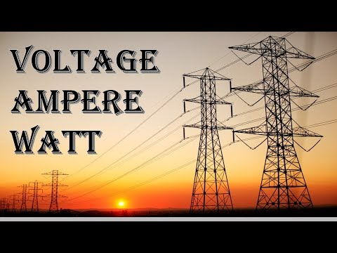 What is difference Volt Ampere Watt and current very easy Explained in Hindi Urdu