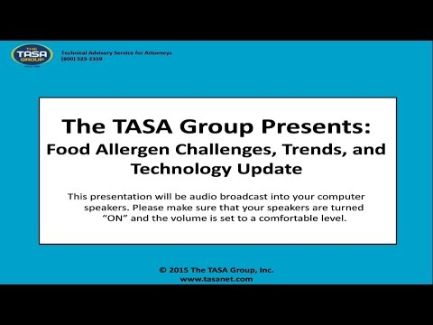 Food Allergen Challenges Trends and Technology Update