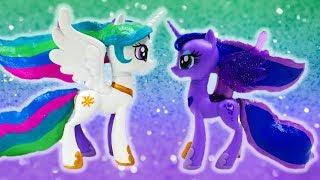 Princess Celestia and Princess Luna Split - MLP Custom Pony Transformation