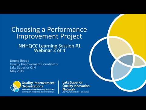 Choosing a Performance Improvement Project - NNHQCC Session 1