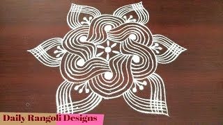 Beginners padi kolam disign | simple and easy padi kolam design with 5 dots | Geethala muggulu