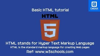 Basic html tutorial for creating web pages