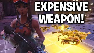 Scammer loses an expensive weapon! 🤧🤣 (Scammer Get Scammed) Fortnite Save The World