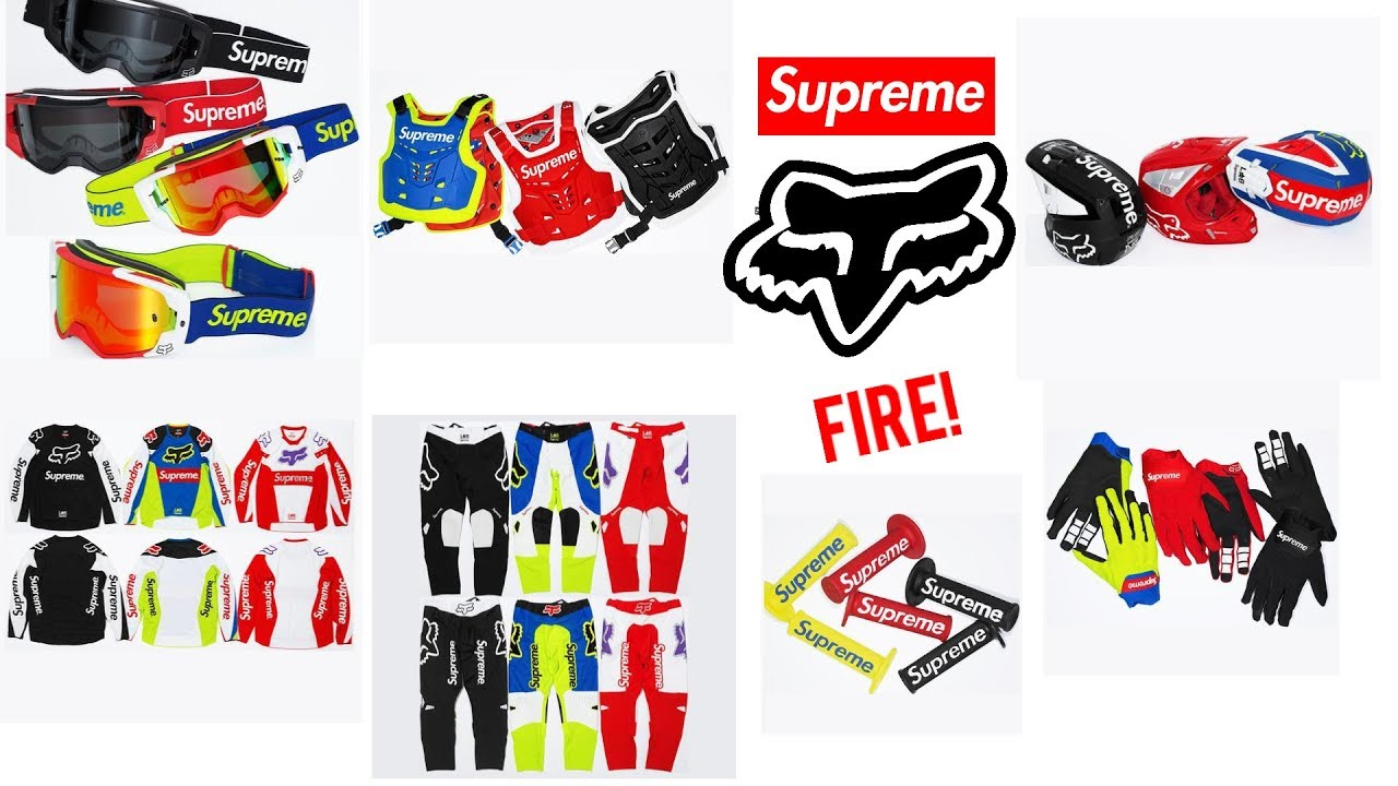 FINALLY, A FIRE COLLAB! SUPREME X FOX RACING CONFIRMED! Supreme