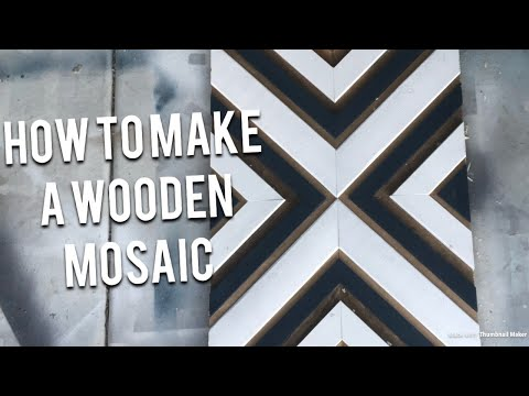 How to build a wooden mosaic art piece